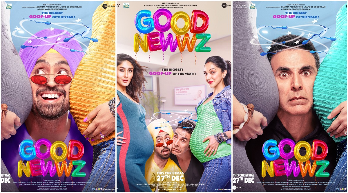 Good Newwz Posters: Akshay, Kareena, Diljit and Kiara are Gearing up or the Biggest Goof-Up of the Year (View Pics)