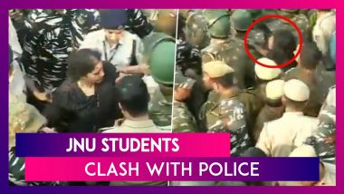 JNU Students Protest Against Fee Hike, Clash With Police; HRD Minister Stuck For Over Six Hours