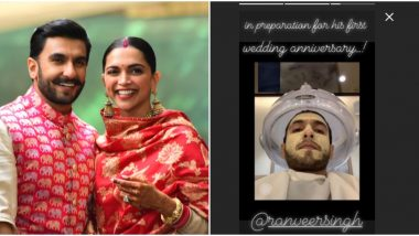 Ranveer Singh is Busy Getting a Facial While Prepping up for his First Wedding Anniversary with Deepika Padukone