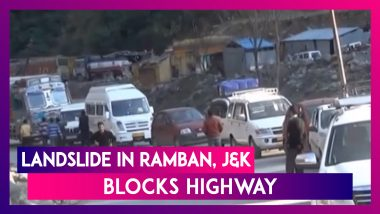 Jammu & Kashmir: Landslide In Ramban Blocks Highway