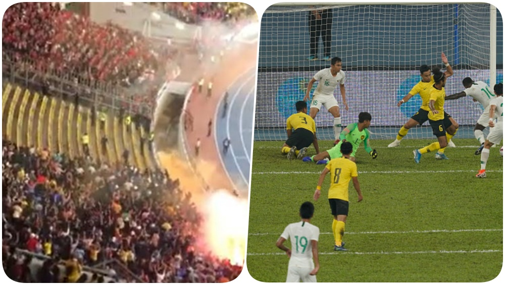 Malaysia, Indonesia Fans Create a Ruckus in the Stadium During 2022 FIFA World Cup Qualifier Game, Attendees Throw Flares (Watch Video)