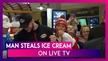 Man Steals Ice Cream From A Stranger On Live TV, Video Goes Viral