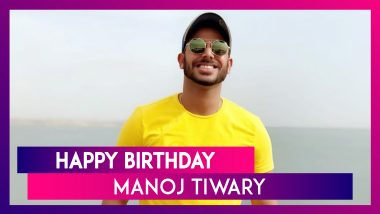 Manoj Tiwary Birthday Special: 7 Interesting Facts About Kolkata Batsman As He Turns 34