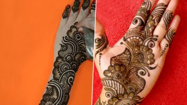Latest Mehndi Designs for Eid-E-milad Un Nabi 2019: Easy Arabic Mehendi Patterns to Apply on Mawlid