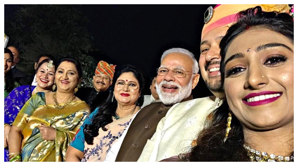 PM Narendra Modi Attends Mohena Kumari Singh and Suyesh Rawat's Wedding Reception In Delhi (See Pic)