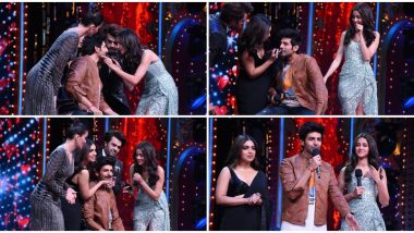 Nach Baliye 9 Finale: Kartik Aaryan's 'Patni' Bhumi Pednekar and 'Woh' Ananya Panday Shave Off His Mooch On National Television (Watch Video)