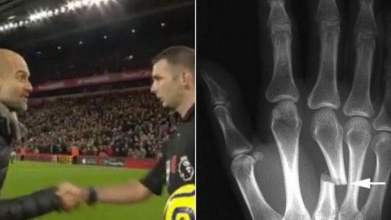 Michael Oliver Gets a Broken Hand After Pep Guardiola's Sarcastic Handshake After Liverpool vs Manchester City, EPL 2019?