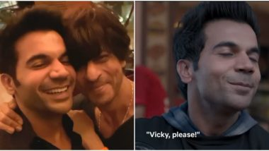 Rajkummar Rao Is on Cloud Nine after Shah Rukh Khan Says the Popular Dialogue from Stree, 'Vicky, Please!' (Watch Video)