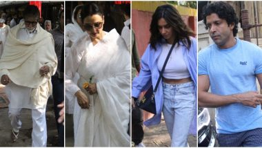 Shaukat Kaifi Passes Away: Amitabh Bachchan, Rekha, Farhan Akhtar, Shibani Dandekar and Others Spotted outside Shabana Azmi's Residence (View Pics)