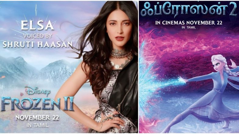 Disney's Frozen 2: Shruti Haasan to Voice and Sing for Elsa in the Tamil Version (View Pics)