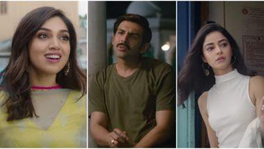 Pati Patni Aur Woh Trailer: Kartik Aaryan Is Not an Ideal 'Pati' as He Juggles between 'Patni' Bhumi Pednekar and 'Woh' Ananya Panday (Watch Trailer)