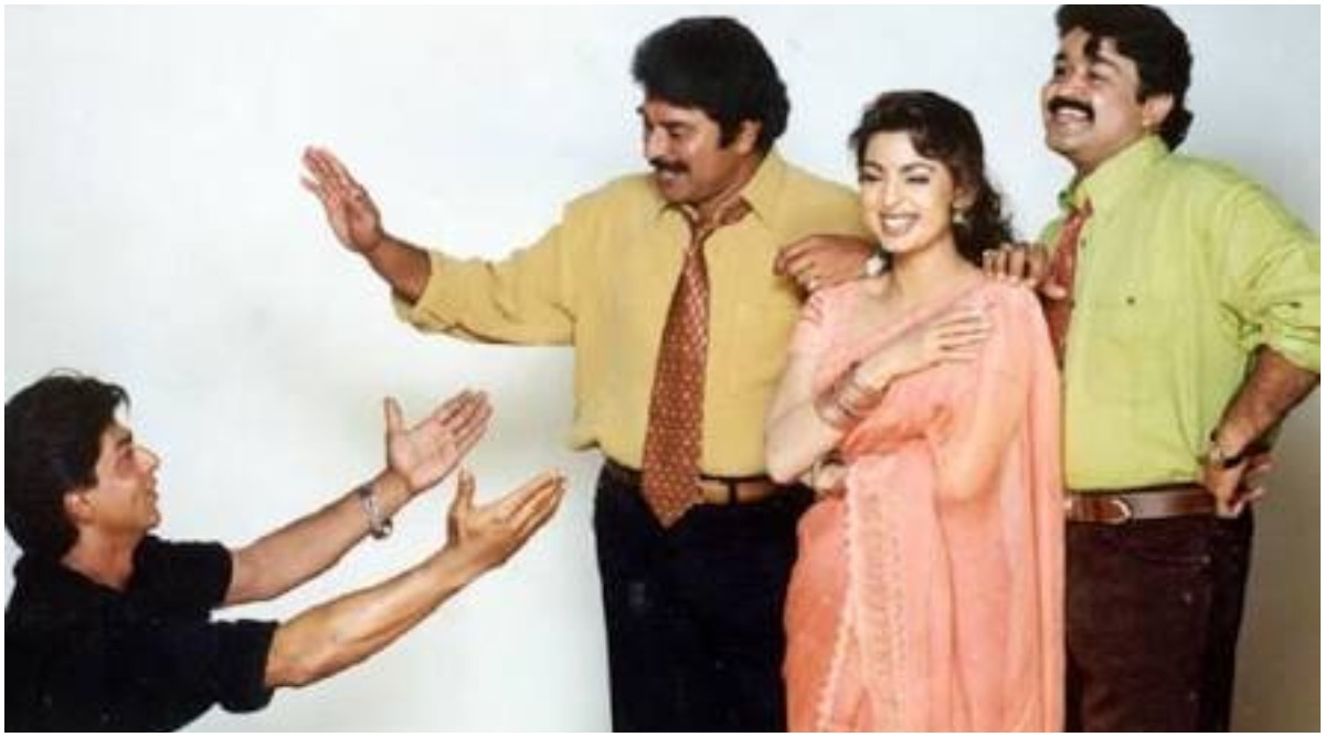Juhi Chawla Birthday Special: Did You Know She Almost Romanced Shah Rukh Khan, Mammootty and Mohanlal in a Single Movie? This Picture Is Proof!