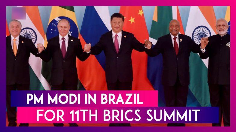 PM Modi In Brazil For 11th BRICS Summit: Digital Economy, Counter-Terrorism On Agenda