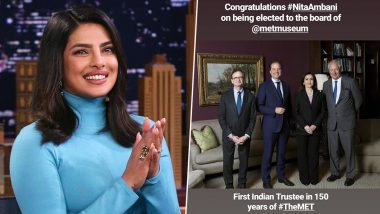 Priyanka Chopra Congratulates Nita Ambani For Getting Elected as Honorary Trustee of NY Metropolitan Museum of Art