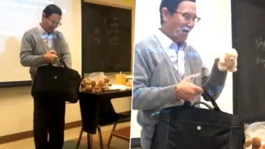 California University Professor Brings in Soft Toys For Students Every Week as Rewards For Their Hard-Work! Viral Video Makes Everyone Emotional