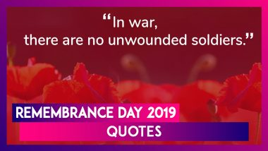 Remembrance Day 2019 Quotes: Thoughtful Words to Honour WWI Veterans on Poppy Day