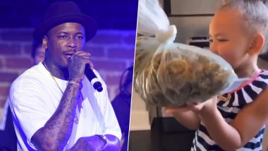 American Rapper YG Gets Slammed for Asking His 3-Year-Old Daughter to Smell a Bag of Weed (Watch Viral Video)