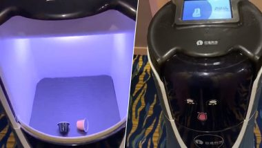 Robot Delivers Coffee at This Shanghai Hotel! Room Service Surprises American Journalist (Watch Video)