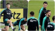 Cristiano Ronaldo Sweats it Out With Team Portugal Ahead of Their Game Against Lithuania, Euro Qualifiers 2020 (See Pics)
