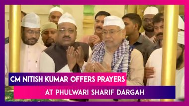 CM Nitish Kumar Offers Prayers At Phulwari Sharif Dargah On The Occasion Of Milad-Un-Nabi