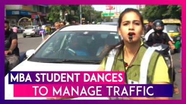 Shubi Jain, An MBA Student Manages Traffic With Her Dance Moves On Indore Roads