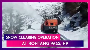 Snow Clearing Operation Underway At Rohtang Pass, Himachal Pradesh