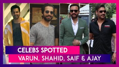Celebs Spotted: Varun Dhawan, Shahid Kapoor & Saif Ai Khan Seen In The City