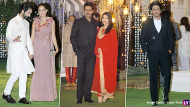 Shah Rukh Khan, Aishwarya Rai Bachchan, Abhishek Bachchan, Shahid Kapoor and Others Attend Mukesh Ambani's Sister's Bash (View Pics)