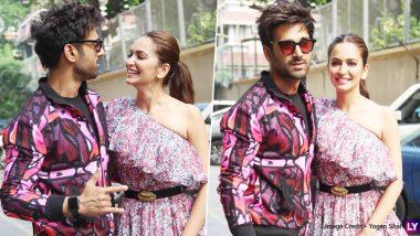 Lovebirds Pulkit Samrat and Kriti Kharbanda Twin in Pink for Pagalpanti Promotions (View Pics)