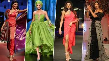Sushmita Sen Birthday Special: Pics of the Former Miss Universe That Prove This Original 'Dilbar' Girl Likes to Make Her Own Moments on The Ramp