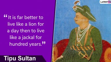 Tipu Sultan Jayanti: Facts About Mysore 'Tiger' & Ruler Who Fought the Colonial Powers