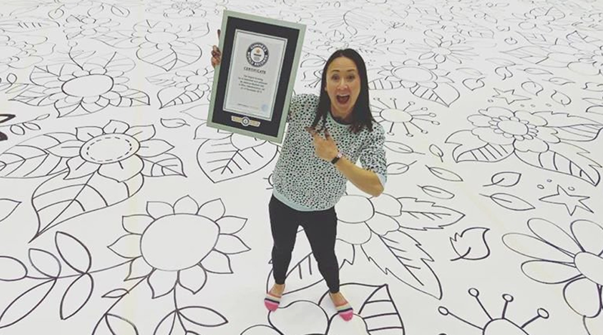 World's Largest Drawing Made by Aberdeenshire Artist Johanna Basford Enters Guinness Record Art (See Pictures)