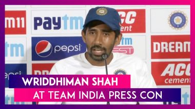 Wicket Keeper Wriddhiman Saha At Team India's Press Conference Ahead Of 1st Day Night Test