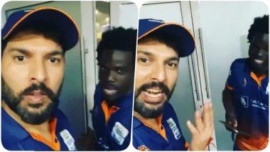 Yuvraj Singh Makes West Indian Cricketer Chadwick Walton Speak Punjabi, Leaves Suresh Raina & Praveen Kumar in Splits (Watch Video)