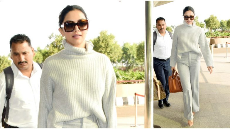 Deepika Padukone's Grey Sweater is a Must-Have in Your Winter Wardrobe - View Pics
