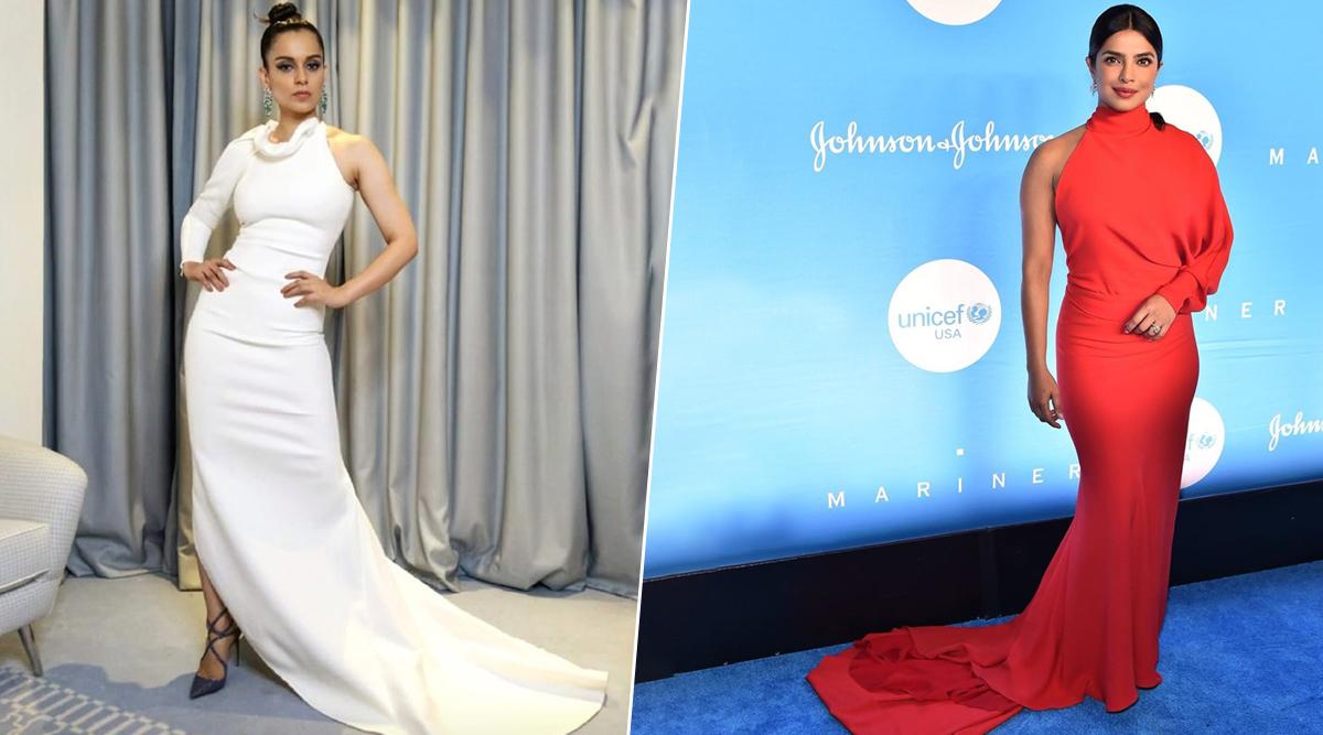 Fashion Faceoff: Priyanka Chopra or Kangana Ranaut - Who Aced this One-Sleeved Halter Neckline Gown? Vote Now