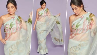 Kareena Kapoor Khan 'Bebo' Printed Saree Takes a Leaf Out of Geet's Wardrobe from Jab We Met