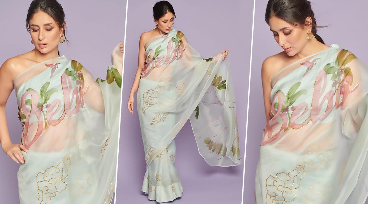 Kareena Kapoor Khan 'Bebo' Printed Saree Takes a Leaf Out of Geet's Wardrobe from Jab We Met