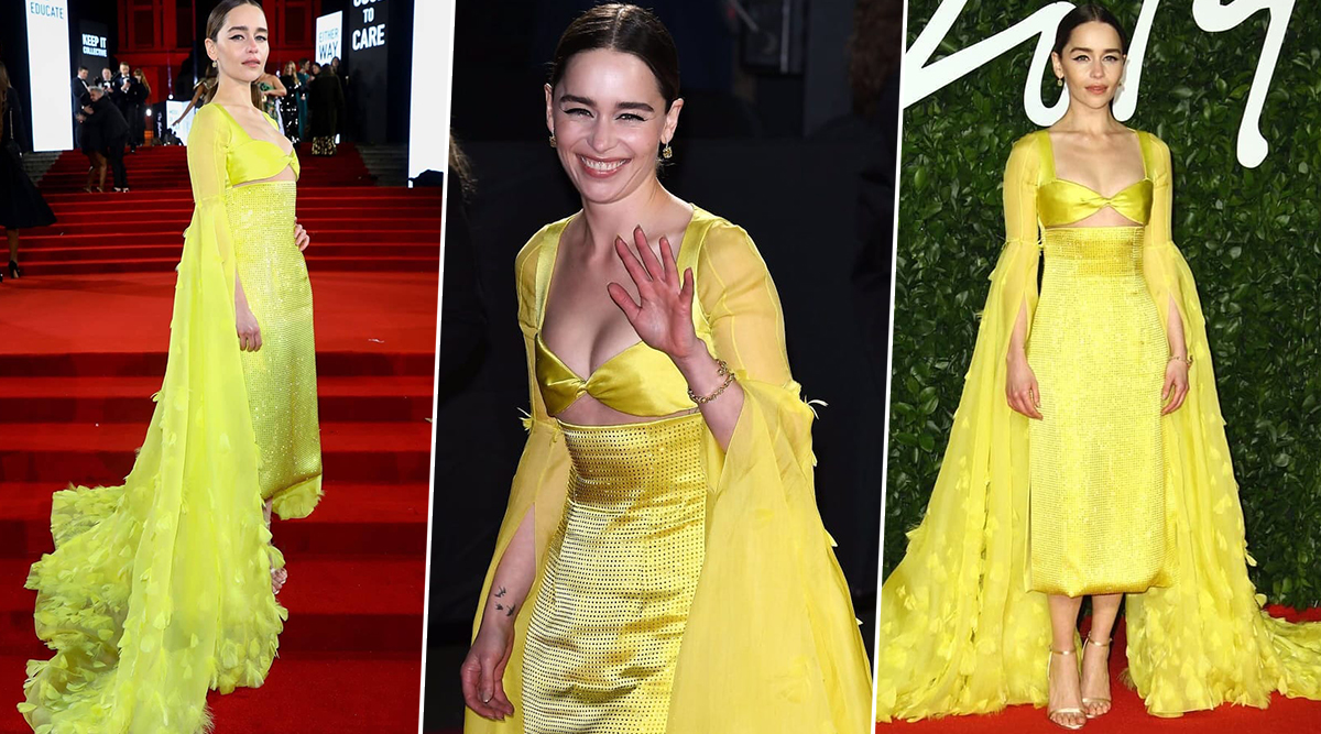 Emilia Clarke at British Fashion Awards: 'She Came, She Walked and She Ruled Our Hearts' with her Schiaparelli Dress (View Pics)