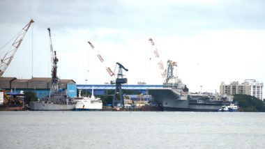 INS Vikrant's Construction in Final Stages, Engines of India's First Indigenous Aircraft Carrier Fired Up At Kochi Shipyard