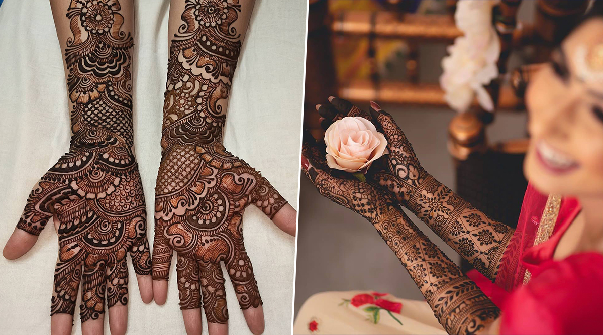 Latest Indian Mehndi Designs 2019: Simple Breath-Taking Bridal Hand and Feet Mehandi Patterns to Take Inspiration From