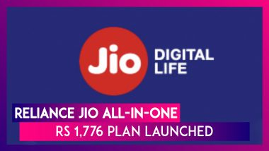 Reliance Jio All-In-One Rs 1,776 Plan Launched Ahead of December 6 Tariff Hike