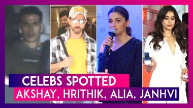 Akshay Kumar, Hrithik Roshan, Alia Bhatt, Janhvi Kapoor & Others Seen In The City | Celebs Spotted
