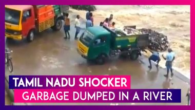 Tamil Nadu Shocker: Panchayat Workers Dump Waste In Water Body