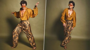Ranveer Singh Proves the 'Chameleon' Title Given to Him By Netizens is a Fit as He Flaunts Another Unique Look in Latest Pictures and Fans Call It 'Jordaar'