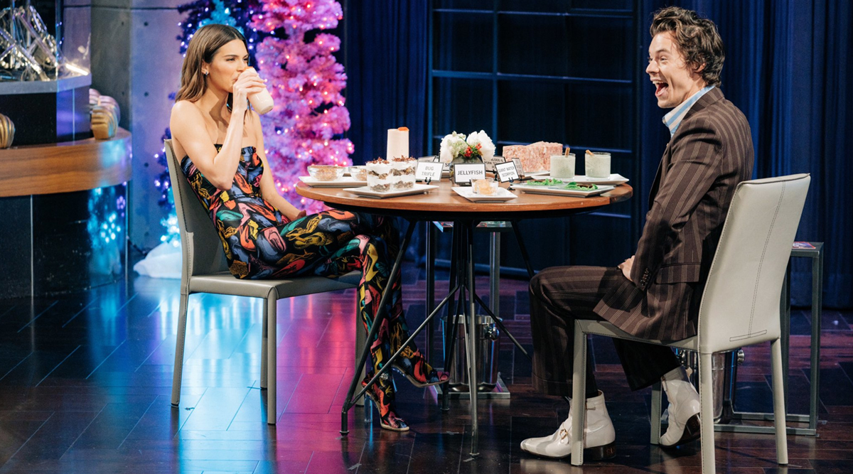 Harry Styles Chose to Eat Cod Sperm Instead of Answering Ex-GF Kendall Jenner's Question on James Corden Show (Watch Video)