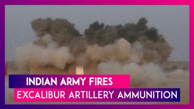 Indian Army Fires Lethal Excalibur Artillery Ammunition From M-777 Howitzers In Pokhran