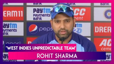 India vs West Indies 3rd T20I: Rohit Sharma Says, 'West Indies Is An Unpredictable Team'