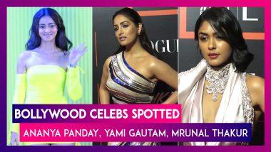 Ananya Panday, Yami Gautam, Mrunal Thakur & Other B-Town Celebs Spotted