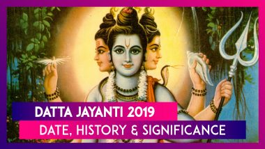 Datta Jayanti 2019: Date, History, Significance Of The Day Observed To Worship Lord Dattatreya